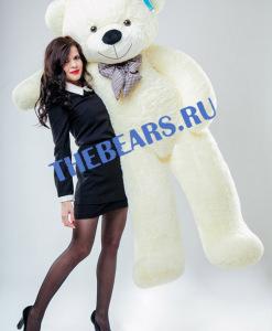 Большой плюшевый медведь 200см белый
